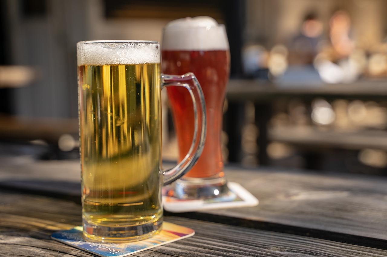 beer, beer garden, drink